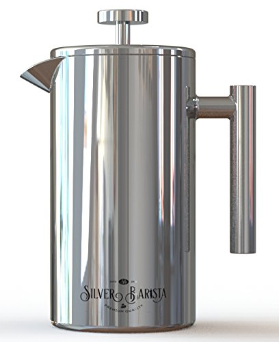 Stainless Steel French Press - 34oz, 8 Cup, Easy Clean, Insulated - Better than Glass Coffee ...
