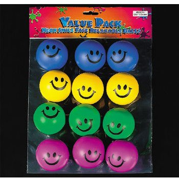 Smile Face Relaxable Balls (12 per package) - 1