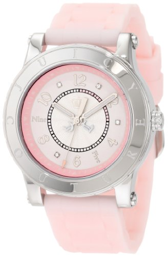 Juicy Couture Women's 1900829 HRH Light Pink Jelly Strap Watch
