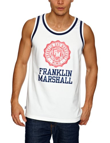 Franklin & Marshall TOMR770S13 Men's Vest Old White Medium