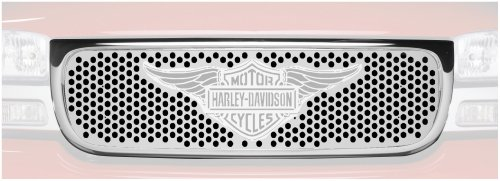 Putco 56102 Harley-Davidson Mirror Stainless Steel Grille with Wings Logo
