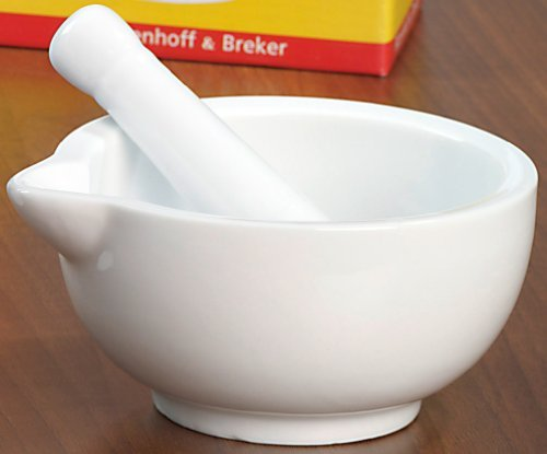 White Porcelain Pestle and Mortar - Bianco