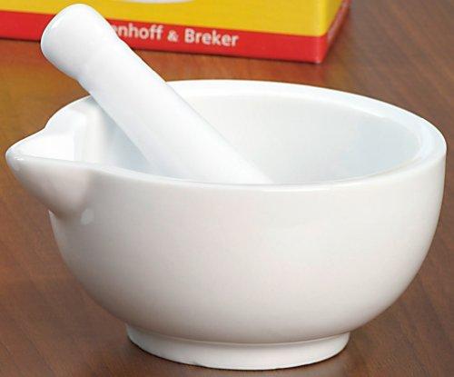 White Porcelain Pestle and Mortar - Bianco