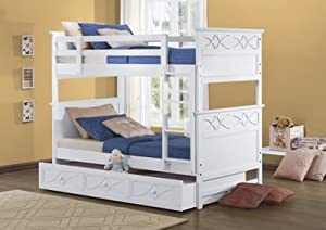 Upper/Lower HeaboardFootboard in White by Homelegance