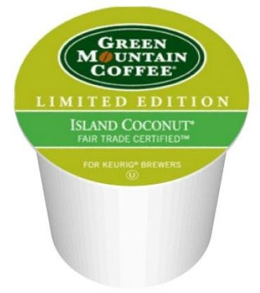 48 Count - Green Mountain Island Coconut K-Cup Coffee for Keurig Brewers by Green Mountain Coffee