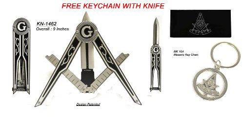 Free Masons Folding Knife 1462