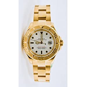 Rolex 18k Yellow Gold Yachtmaster Model 16628 White Dial