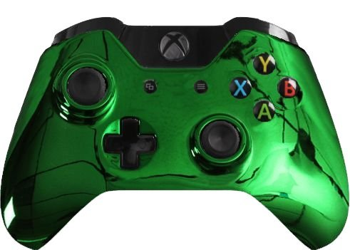 Custom Xbox One Controller Special Edition Green Chrome Controller