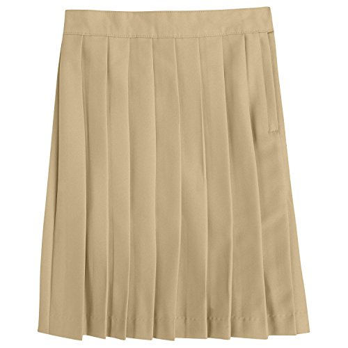 French Toast Big Girls Pleated Skirt, Khaki, 16