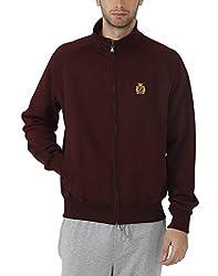 Fahrenheit Men's Fleece Sweat Shirt (8903942217548_Maroon_XX-Large)