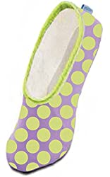 Snoozies Wild for Dots Women's Lightweight Skinnies Footcovering Slippers
