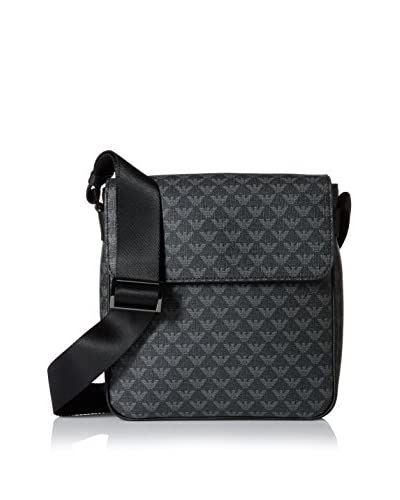 Emporio Armani Logo Messenger, Black/Grey