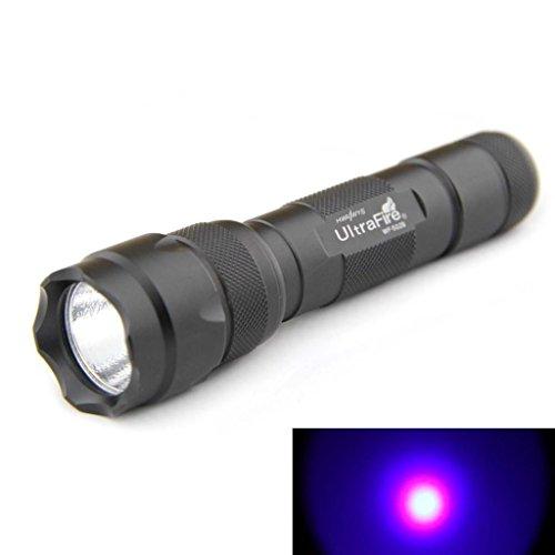 Ultrafire® Wf-502B R5 Single Mode 300 Lumen Ultraviolet Led Flashlight Torch