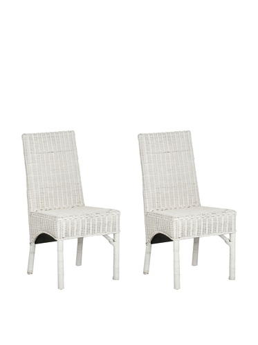 Safavieh Set of 2 Sommerset Side Chairs, White