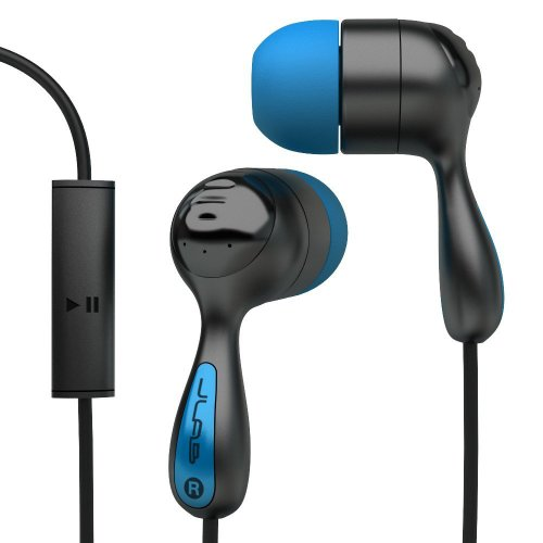 Jlab Jbuds Hi-Fi Noise-Reducing Ear Buds With Universal Microphone (Black / Electric Blue)