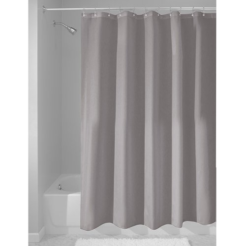 InterDesign Fabric Waterproof Shower Curtain Liner 72 By 72 Inches Gray New