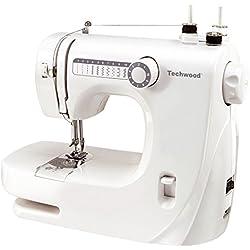 Techwood TMAC-608 - Macchina da cucire, colore: bianco