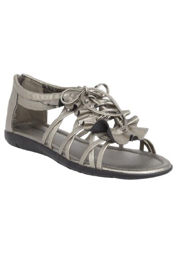 Comfortview Women'S Wide Comfortview Women'S Helena Sandal Energy Flex (Pewter,10 M)