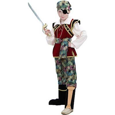 Pirate Childrens Costume for Boys 7-8 Years Old