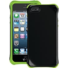 Ballistic AP1085-A005 Aspira TPU Case For IPhone 5 - 1 Pack - Retail Packaging - Black/Lime Green