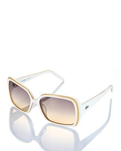 Lacoste Gafas de Sol L623S Blanco / Amarillo