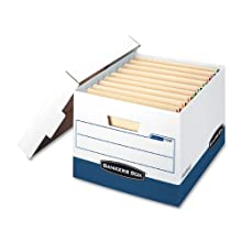 Bankers Box Stor/File Heavy-Duty Storage Boxes with End Tabs, Letter/Legal, 12 Pack (00709)