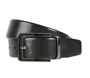 STRELLSON ceinture réversible herrengürtel d.braun ceinture en cuir noir -  Noir - 100