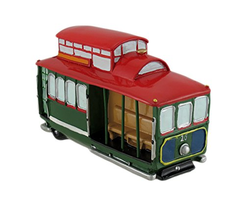 Red And Green Cable Car Coin Bank - 1