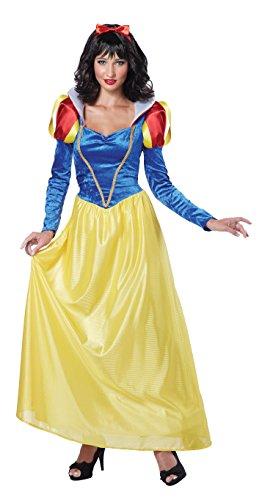California Costumes Women's Adult Snow White Costume and Wig, Blue/Yellow, Medium