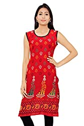 Kurti Studio Womens Cotton Dress Material (un236_Red)