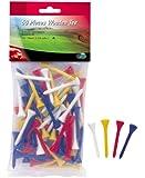 L.A. Golf Tees en bois pour homme 50 pièces Blanc