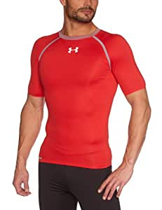 Under Armour Dynasty Heatgear Vented T-Shirt de compression manches courtes homme Red/Steel XXL