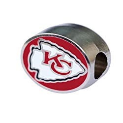 Kansas City Chiefs Bead Fits Most Pandora Style Bracelets Like Pandora Chamilia Biagi Zable & More