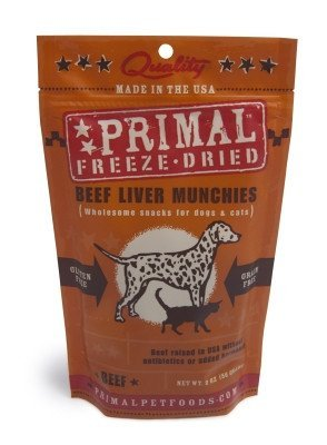 Primal Freeze-Dried Beef Liver Munchies 2oz 2 Pack
