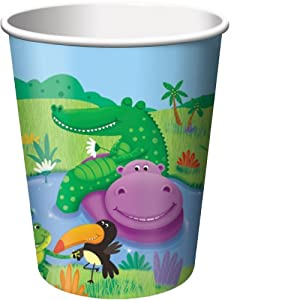 Creative Converting Jungle Buddies Paper Party Cups, 8 Count by Creative Converting