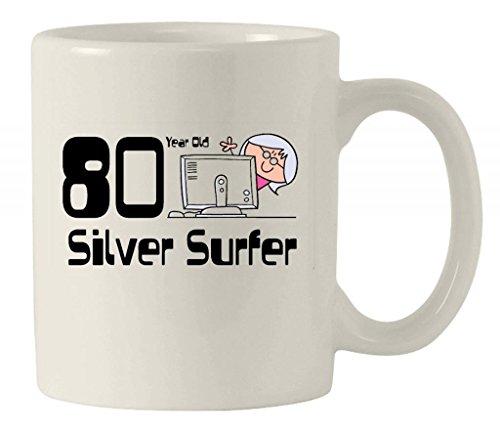 Silver Surfer dicono le donne s-Tazza in ceramica personalizzabile, 80° compleanno