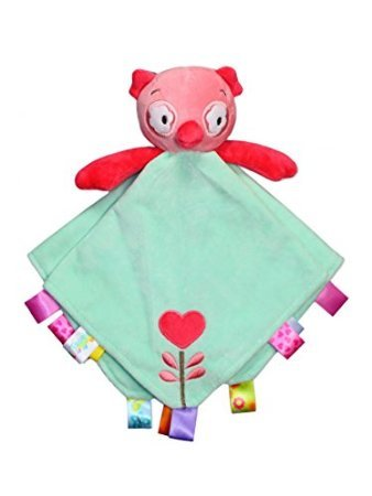 Taggies Rattle Head Owl Baby Girl Plush Security Blanket Lovie by Taggies - 1