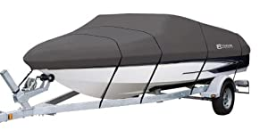 Classic Accessories StormPro Heavy Duty Boat Cover, Charcoal