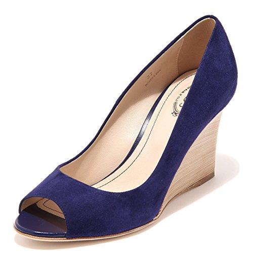 58380 blu decollete spuntato TOD'S ZEPPA RD scarpa donna shoes women [37]