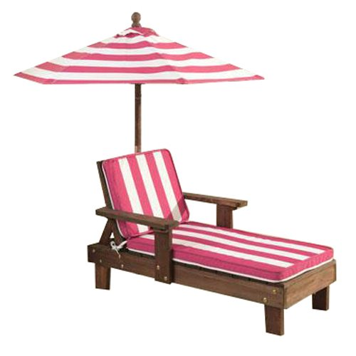 Kidkraft Chaise Lounger Pink White Outdoor Furniture