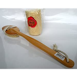 Boar Bristle Bath Brush Non Detachable