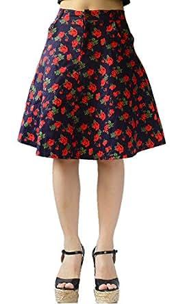 ysj juniors mini skirt high waist floral cotton a line