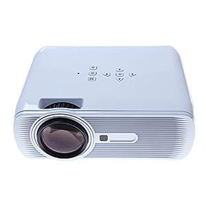 Home Theater Projector 3000Lumens 3D LED AV/USB/VGA/SD(White)