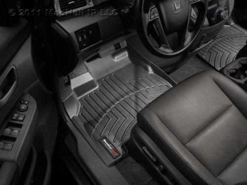 WeatherTech Custom Fit Front FloorLiner for Toyota Prado 2-Door (Meru), Black (Toyota Meru Prado Accessories compare prices)