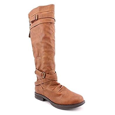 Madden Girl Women's Zerge Round Toe Knee High Boots in Cognac Size 5