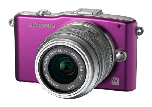 Olympus Pen E-PM1 Compact System Camera - Purple (includes M.ZUIKO Digital 14 -42mm II R Lens)