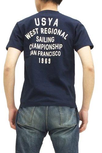 (フェローズ)pherrows Tシャツ 14S-PT11 USYA メンズ 半袖tee ネイビー