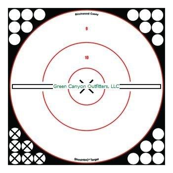 Birchwood Casey Shoot-N-C White/Black 12-Inch Bull'S-Eye X 5 Targets
