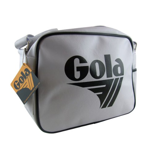 New Gola White Black Redford Retro Shoulder Record Bag