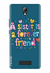 Noise Designer Printed Case / Cover for Lyf Wind 3 / Quotes/Messages / A sister is forever friend Design